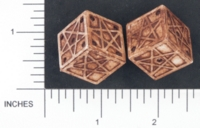 Dice : D6 OPAQUE SHARP SOLID BRIANS BAZAR PENTAGRAM 01