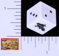 Dice : D6 OPAQUE ROUNDED SOLID MATTEL CARS COW TIPPING 01
