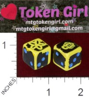 Dice : MINT38 TOKEN GIRL BEE FLOWER