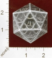 Dice : PAPER D20 MY DESIGN FOR GENCON 2011 HAT COPY OF SHAPEWAYS CERAMICWOMBAT CAGE D20 FOR 01