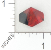 Dice : BLANK D10 CHESSEX GEMINI BLACK RED 01