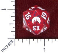 Dice : D20 OPAQUE ROUNDED SPECKLED WIZARDS OF THE COAST MTG ORGINS 01