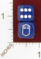 Dice : MINT25 CHESSEX CUSTOM FOR EBAY RACERSKA TARDIS DOCTOR WHO 01
