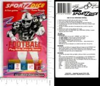 Dice : DUPS03 TEVELE SPORTZDICE FOOTBALL 01