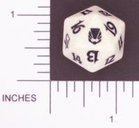 Dice : D20 OPAQUE ROUNDED SPECKLED MTG LIFE COUNTERS DARKSTEEL 05