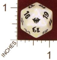 Dice : D20 OPAQUE ROUNDED SPECKLED MTG LIFE COUNTERS DARK ASCENSION 02