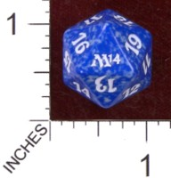 Dice : D20 OPAQUE ROUNDED SOLID WIZARDS OF THE COAST MTG M14 03