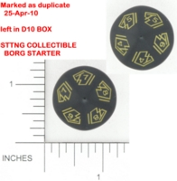Dice : D10 OPAQUE ROUNDED SOLID UNKNOWN SET 1 BKTRADE 01