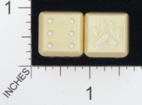Dice : MINT18 ACE PRECISION D6 BRASS ROUNDED PAW PRINT 01