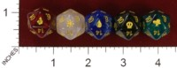 Dice : D20 OPAQUE ROUNDED IRIDESCENT UNKNOWN CHINESE MAGIC THE GATHERING 01