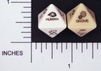 Dice : D8 OPAQUE ROUNDED SOLID CHESSEX 04
