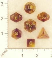 Dice : MINT23 CRYSTAL CASTE FIREFLY PURPLE YELLOW