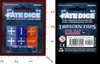 Dice : MINT36 EVIL HAT PRODUCTIONS FATE DICE WINTER KNIGHT DRESDEN