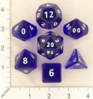 Dice : MINT19 CRYSTAL CASTE CLEAR ROUNDED SOLID BLUE 02