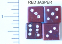 Dice : STONE D6 RED JASPER 2