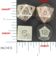 Dice : METAL PEWTER MULTI 02