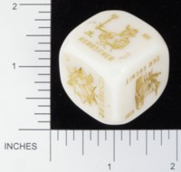 Dice : NON NUMBERED OPAQUE ROUNDED SOLID UNKN_OWN TAROT BKTRADE 01