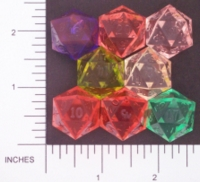 Dice : D20 CLEAR SHARP SWIRL GAMESCIENCE 01