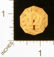 Dice : MINT28 SHAPEWAYS AEGIDIAN PEELED D12 01