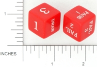 Dice : NON NUMBERED OPAQUE ROUNDED SOLID GAMESTATION UNKNOWN GAME PROTOTYPE 02