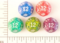 Dice : D12 OPAQUE ROUNDED SPECKLED KOPLOW 01