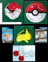 Dice : MINT55 TOMY POKEMON THROW N POP POKE BALL PIKACHU