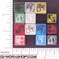 Dice : NUMBERED OPAQUE ROUNDED SOLID Q WORKSHOP CHIP 02