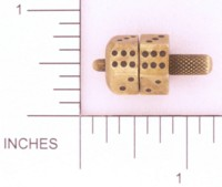 Dice : METAL BRASS D6 SPINIM SPINNER 02