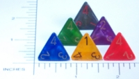 Dice : D4 OPAQUE ROUNDED IRIDESCENT CHESSEX VELVET