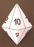 Dice : PAPER D10 MY DESIGN NUMBERED
