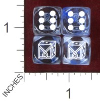Dice : MINT37 CHESSEX DICE MANIACS CLUB LOGO OLD 05 NEBULA