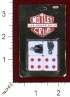 Dice : MINT44 GLOBAL MOTLEY CRUE LAS VEGAS 2013