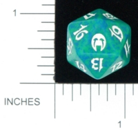 Dice : D20 OPAQUE ROUNDED SPECKLED MTG LIFE COUNTERS APOCALYPSE 02