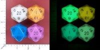 Dice : MINT52 METALLIC DICE GAMES GLOW