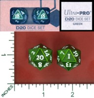 Dice : MINT58 ULTRA PRO D20 DICE SET GREEN