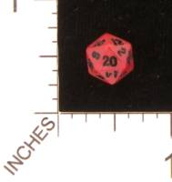 Dice : STONE D20 CRYSTAL CASTE CORAL 01