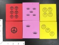 Dice : MINT43 UNKNOWN FOAM PEACE SMILEY CROWN