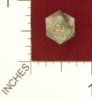 Dice : MINT21 CRYSTAL CASTE COLOMBIAN EMERALD DIE NUMBER 29000
