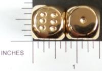 Dice : METAL GOLD D6 02