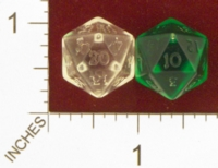 Dice : D20 CLEAR ROUNDED SOLID ARMORY 01