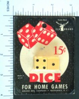 Dice : DUPS03 ELK IVORY 2 FIVE EIGHTHS 15 CENT