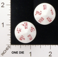 Dice : D10 OPAQUE ROUNDED SOLID KOPLOW THAI WORDS FOR NUMBERS 01