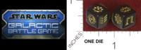 Dice : MINT34 HASBRO STAR WARS GALACTIC BATTLE GAME 01