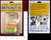 Dice : MINT33 STEVE JACKSON PLUS 6 BAG O RADIOACTIVE MUNCHKIN D6 01
