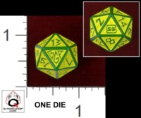 Dice : D20 OPAQUE ROUNDED SOLID Q WORKSHOP CUSTOM BROCKPORT GAMING ASSOCIATION