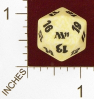 Dice : D20 OPAQUE ROUNDED SPECKLED MTG LIFE COUNTERS M11 02