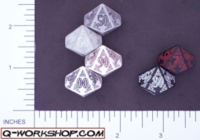 Dice : D10 OPAQUE ROUNDED SOLID Q WORKSHOP CELTIC II 02