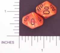 Dice : D10 OPAQUE ROUNDED SWIRL CHESSEX VORTEX 02