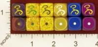 Dice : MINT26 CHESSEX CUSTOM FOR RACERSKA CTHULHU YELLOW SIGN 01