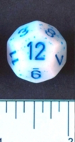 Dice : D12 OPAQUE ROUNDED SPECKLED WITH BLUE 2